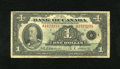Canadian Currency: , BC-1 $1 1935. This note although well circulated is complete.Good-Very Good....