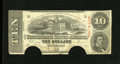 Confederate Notes:1863 Issues, T59 $10 1863. A few pinholes are noticed. Fine, COC....