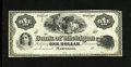Obsoletes By State:Michigan, Marshall, MI- Bank of Michigan $1 18__. This is a beautiful black and white remainder that was printed by the ABNCo. Extre...