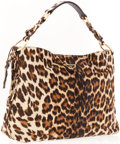 Luxury Accessories:Bags, Prada Leopard Ponyhair Shoulder Bag. ...