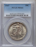 Walking Liberty Half Dollars: , 1947 50C MS64 PCGS. PCGS Population (4432/4691). NGC Census:(2611/3479). Mintage: 4,094,000. Numismedia Wsl. Price for pro...