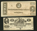Confederate Notes:1862 Issues, $2 1862 and 1864 Notes.. ... (Total: 2 notes)