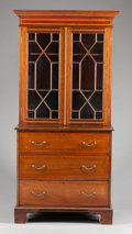 Furniture , A GEORGIAN-STYLE MAHOGANY SECRETARY BOOKCASE. 20th century. 46 x 34 x 19-1/4 inches (116.8 x 86.4 x 48.9 cm). ...