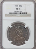 Bust Half Dollars: , 1835 50C XF45 NGC. NGC Census: (106/636). PCGS Population(124/578). Mintage: 5,352,006. Numismedia Wsl. Price for problem...