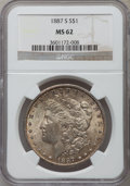 Morgan Dollars: , 1887-S $1 MS62 NGC. NGC Census: (1289/2648). PCGS Population(1841/4800). Mintage: 1,771,000. Numismedia Wsl. Price for pro...