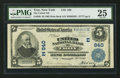 National Bank Notes:New York, Troy, NY - $5 1902 Plain Back Fr. 598 The United NB Ch. # (E)940. ...