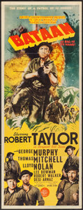 "Movie Posters:War, Bataan (MGM, 1943). Insert (14"" X 36""). War.. ..."