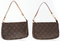 Luxury Accessories:Accessories, Louis Vuitton Set of Two; Two Classic Monogram Canvas PochetteShoulder Bags. ... (Total: 2 )