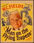 "Movie Posters:Comedy, Man on the Flying Trapeze (Paramount, 1935). Trimmed Window Card(14"" X 18""). Comedy.. ..."