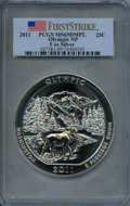 Modern Bullion Coins, 2011 25C Olympic Five-Ounce Silver, First Strike MS69 Deep Mirror Prooflike PCGS. PCGS Population (1575/0). NGC Census: (0/...