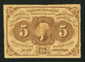 Fractional Currency:First Issue, Fr. 1230 5¢ First Issue Choice About New.. ...