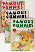 Golden Age (1938-1955):Miscellaneous, Famous Funnies Group (Eastern Color, 1936-47) Condition: Average GD.... (Total: 11 Comic Books)