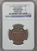 (1670-75) 1/2P St. Patrick Halfpenny -- Burnished -- NGC Details. Fine. NGC Census: (2/8). PCGS Population (9/65). ...(P...