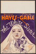 "Movie Posters:Drama, The White Sister (MGM, 1933). Trimmed Window Card (14"" X 21""). Drama.. ..."