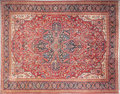Rugs & Textiles:Carpets, A PERSIAN HERIZ WOOL KNOTTED CARPET. 20th century. 15 feet long x11-1/2 feet wide. ...