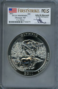 Modern Bullion Coins, 2011 25C Olympic Five-Ounce Silver, First Strike MS69 Deep Mirror Prooflike PCGS. Ex: Signature of John M. Mercanti, 12th C...
