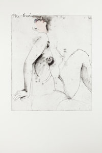 JIM DINE (American, b. 1935) The Swimmer, from Eight Sheets from an Undefined Novel, 1976