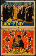 """Movie Posters:Comedy, Lady for a Day (Columbia, 1933). Title Lobby Card & Lobby Card(11"""" X 14""""). Comedy.. ... (Total: 2 Items)"""
