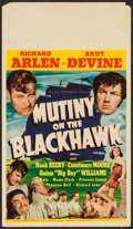 "Movie Posters:Adventure, Mutiny on the Blackhawk (Universal, 1939). Midget Window Card (8"" X14""). Adventure.. ..."