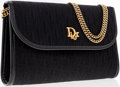 Luxury Accessories:Accessories, Christian Dior Black Monogram Canvas Clutch Bag with Chain Straps ....