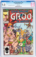Modern Age (1980-Present):Humor, Groo the Wanderer #10 (Marvel, 1985) CGC NM/MT 9.8 White pages....