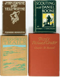 Books:Literature 1900-up, [Charles Russell, Frederick Remington et al]. Group of FourIllustrated Books of Western Fiction. Various publishers, 1903-1...(Total: 4 Items)