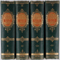 Books:Biography & Memoir, Charles Knight. Half-Hours with the Best Authors. London: Frederick Warne, [1866]. Four twelvemo volumes. Green clot... (Total: 4 Items)