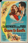 "Movie Posters:Musical, Down to Earth (Columbia, 1947). One Sheet (27"" X 41"") Style B. Musical.. ..."