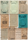Books:Americana & American History, [Almanacs]. Group of Ten Almanacs. Various publishers, 1693-1861.Printed wrappers. String bound. Most toned; some with tear...(Total: 10 Items)