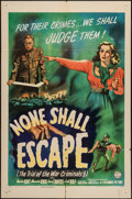 "Movie Posters:War, None Shall Escape (Columbia, 1944). One Sheet (27"" X 41""). War....."