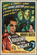 "Movie Posters:Crime, Shadows in the Night (Columbia, 1944). One Sheet (27"" X 41"").Crime.. ..."