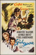 "Movie Posters:Thriller, The Spiral Staircase (Selznick, R-1956). One Sheet (27"" X 41""). Thriller.. ..."