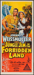 "Movie Posters:Adventure, Jungle Jim In the Forbidden Land (Columbia, 1951). AustralianDaybill (13.5"" X 30""). Adventure.. ..."