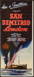 "Movie Posters:War, San Demetrio, London (British Empire Films, 1944). TrimmedAustralian Daybill (12.5"" X 28.5""). War.. ..."