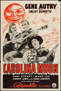 "Movie Posters:Western, Carolina Moon (Republic, 1940). One Sheet (27"" X 41""). Western.. ..."