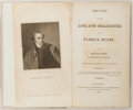 Books:Americana & American History, William Wirt. Sketches of the Life and Character of PatrickHenry. Philadelphia: James Webster, 1818. Octavo. Reboun...