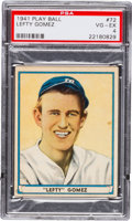Baseball Cards:Singles (1940-1949), 1941 Play Ball Lefty Gomez #72 PSA VG-EX 4....
