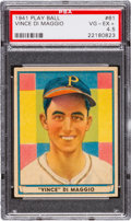 Baseball Cards:Singles (1940-1949), 1941 Play Ball Vince DiMaggio #61 PSA VG-EX+ 4.5....