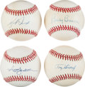 Baseball Collectibles:Balls, Yankees Greats Single Signed Baseballs Lot of 4....