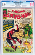 Silver Age (1956-1969):Superhero, The Amazing Spider-Man #5 (Marvel, 1963) CGC VG/FN 5.0 Off-white to white pages....