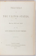 Books:Americana & American History, Emmeline Stuart Wortley. Travels in the United States, etc.During 1849 and 1850. New York: Harper, 1851. First edit...