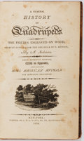 Books:Natural History Books & Prints, A. Anderson. A General History of Quadrupeds. New York: G. & R. Waite, 1804. First American edition. Contains hundre...