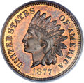 Proof Indian Cents, 1877 1C PR64 Brown PCGS. CAC....