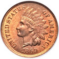 Indian Cents, 1869/69 1C MS64+ Red and Brown PCGS. CAC. Snow-3f, FS-301....