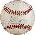 Baseball Collectibles:Balls, WWII Army Multi Signed Baseball - With Joe DiMaggio....