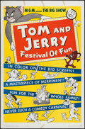 "Movie Posters:Animation, Tom and Jerry: Festival of Fun (MGM, 1962). One Sheet (27"" X 41""). Animation.. ..."