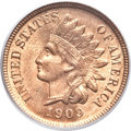 Indian Cents, 1909-S 1C MS64 Red PCGS. CAC....