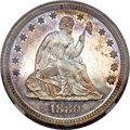 Proof Seated Quarters, 1880 25C PR66 Cameo NGC....