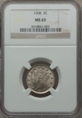 Liberty Nickels: , 1908 5C MS65 NGC. NGC Census: (59/7). PCGS Population (77/16).Mintage: 22,686,176. Numismedia Wsl. Price for problem free ...