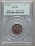 Proof Indian Cents: , 1898 1C PR64 Brown PCGS. PCGS Population (14/17). NGC Census: (14/23). Mintage: 1,795. Numismedia Wsl. Price for problem fr...